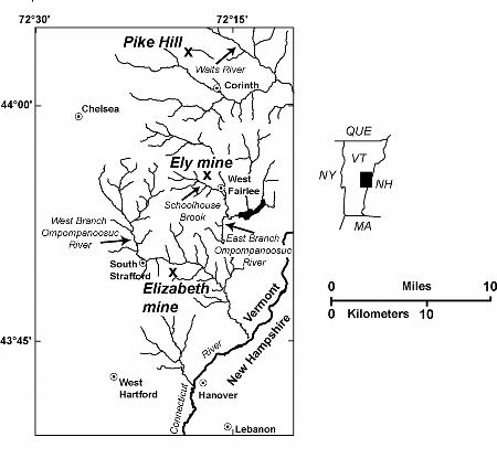 Reduced-size image of the general location map, showing other mines in the area