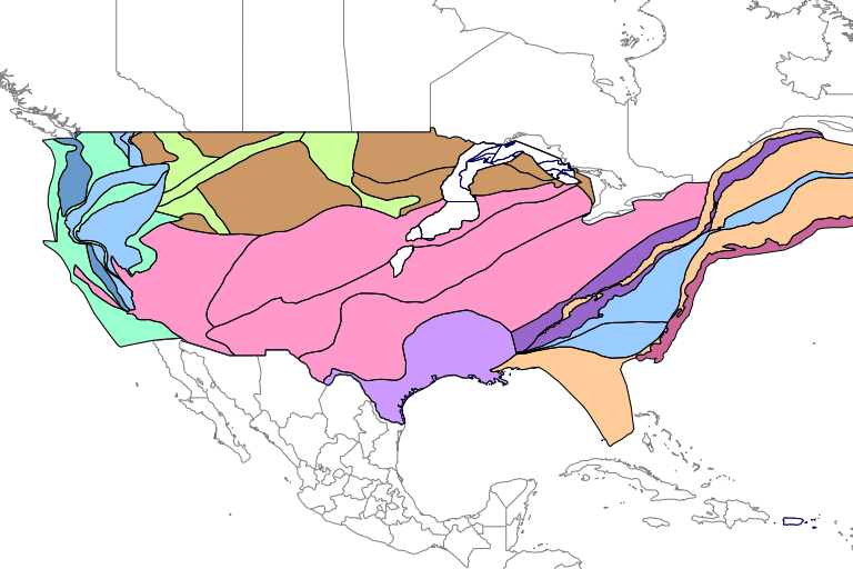Reduced-size image of the domains in the conterminous US.