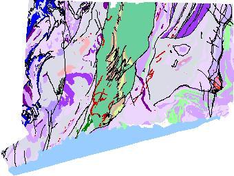 bedrock geologic map of connecticut Connecticut Geologic Map Data bedrock geologic map of connecticut
