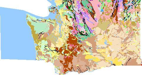 Washington Geologic Map Data - Map of state of washington