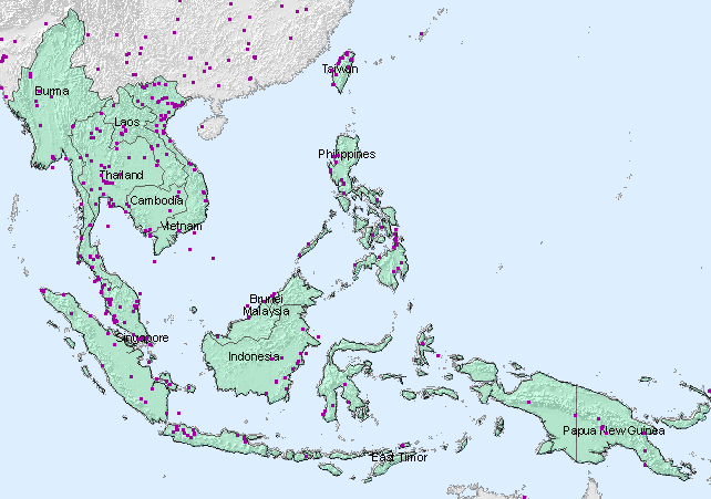 Select data by geographic area southeast asia land map showing southeast asia divided by fips units gumiabroncs Image collections